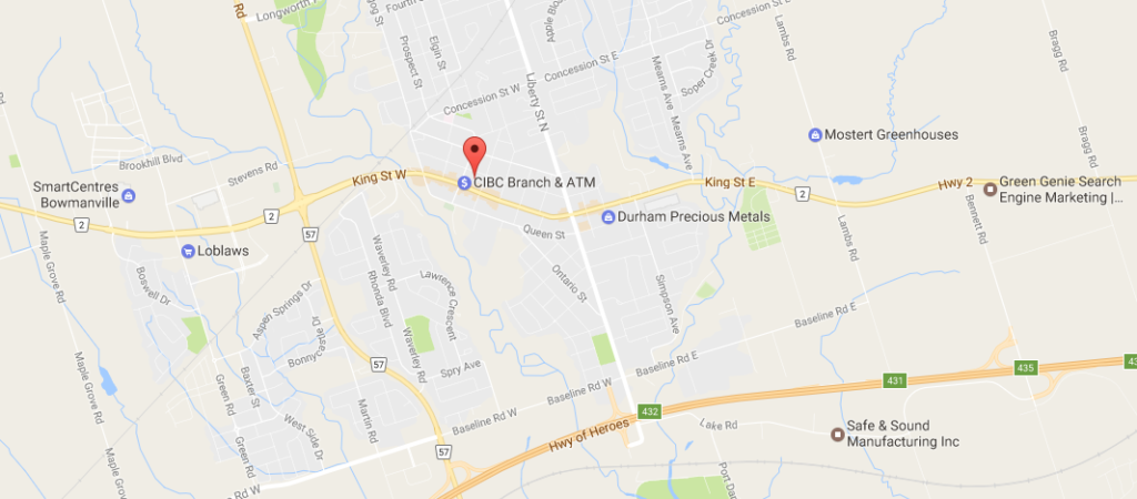 Map Of Bowmanville